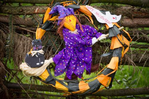 Türkranz Hexe Vogelscheuche Halloween Herbstdeko Deko Strohdeko 125451813