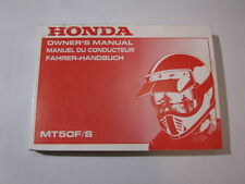 HONDA MT50 F/S 1989 OWNER MANUAL MANUEL DU CONDUCTEUR FAHRER-HANDBUCH