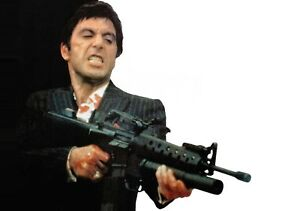 SCARFACE-Movie-PHOTO-Print-POSTER-Textless-Film-Art-Al-Pacino-Tony-Montana-002