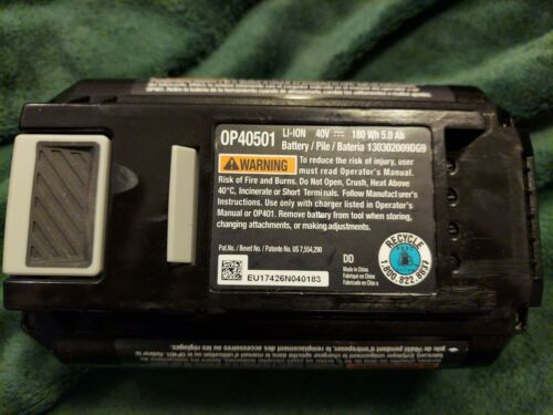 Genuine Ryobi OP40501 40V Lithium-Ion 5Ah Battery With Fuel Gauge For Parts