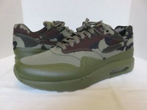 Nike AIR MAXIM 1 France SP Camo Italy Dark Olive Men's Size 10 Sneakers Shoes