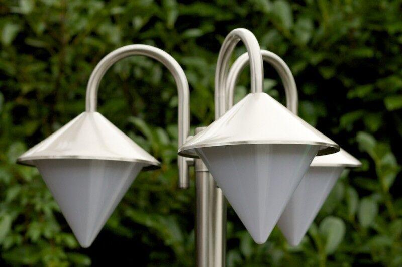 Lampione da giardino Design Piantana da esterno esterno esterno di acciaio inox Lampadario 3543 874084