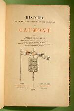 ALIS : Histoire de la ville, du château et des seigneurs de Caumont - 1898 relié