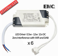 6 X 12W LED Drivers incl MR16 Bulb Connector - 240V to 12V