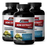 Organic Noni - 100% Noni Extract 8:1 500mg Anti-aging, Antioxidant 3b