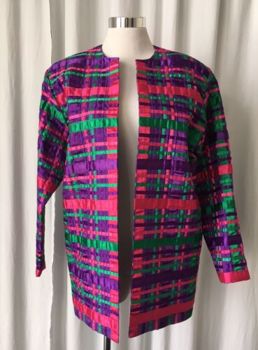 Vintage 80's   Tachi Castillo Jacket with  Satin R