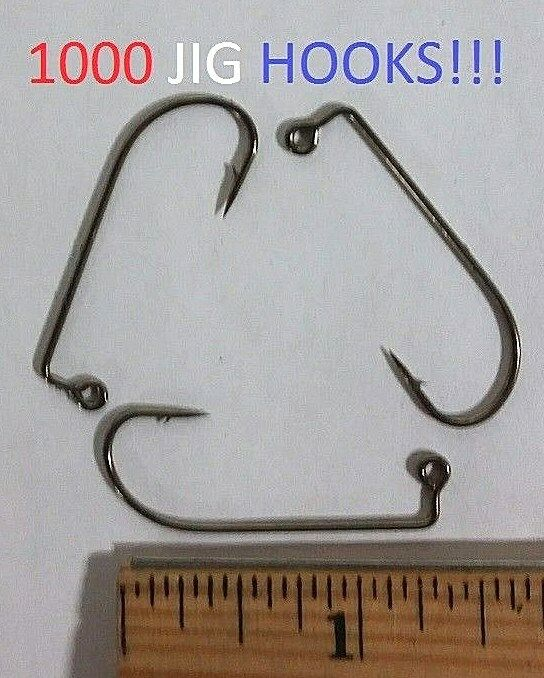 1000 Lazer Sharp Sz.1  Bronze 90o O'Shaughnessy Jig Hooks (L630M-1) Y-Wall  hot limited edition