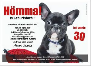 Einladungskarte Geburtstag Lustiger Hund Ruhrpott Dialekt 30 40 50