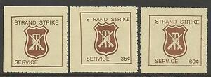 AUSTRALIA-1981-CRICKET-STRAND-STRIKE-MAIL-CINDERELLAS-3v-Perf-MNH