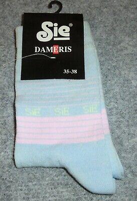 1 Paar Hellblau/rosa Socken Gr. 35-38 Von Sie Dameris Neu Wir Nehmen Kunden Als Unsere GöTter