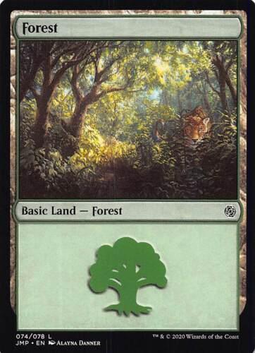x1 FOREST 074//078 LAND JUMPSTART Magic CARD MTG