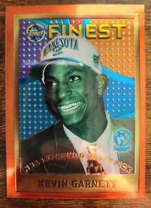 🔥🔥 📈 Kevin Garnett 1995 Topps Finest Rookie RC HOF #115 Super Clean! 📈🔥🔥