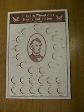 OLDER  RARE LINCOLN CENT BOARD OR PAGE 1934-1958 WITH FREE SHIPPING