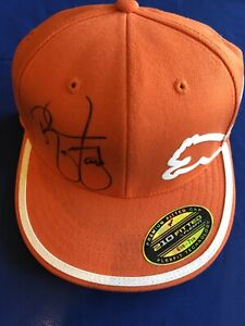 NWT-Rickie-Fowler-signed-Puma-Logo-Golf-Hat-PGA-Masters-Auto-US-Open-Winged-Foot