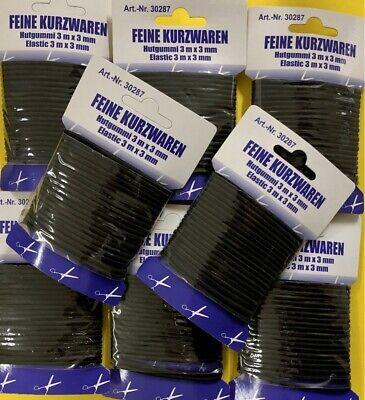 4mm 10 Meter Top Auswahl Gummikordel,Gummilitze Gummiband,bunt Wäschegummi