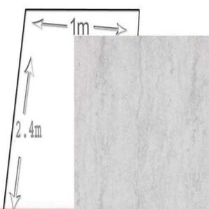 1M WIDE SILVER TRAVERTINE pvc shower wall panels 10mm thick 2400 ...