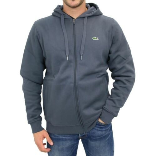 Lacoste 3 Hoody Hoodie Mens Bnwt Graphite Grey Small Full Size Genuine Zip dnHtw0Wdq