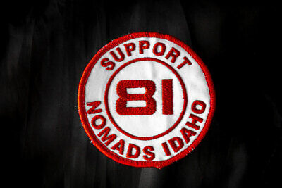 SUPPORT 81 IDAHO EMBROIDERED PATCH Support Idaho 81 Hells Angels
