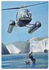 Cartolina Carabinieri, cooperazione tra elicotteri e Carabinieri subacquei