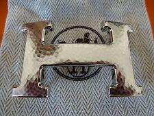 authentique boucle de ceinture hermès constance martelé neuve en acier palladié