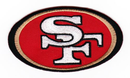 SAN FRANCISCO 49ers SEW//IRON ON PATCH EMBLEM 2-1//4x4 EMBROIDERED NFL FOOTBALL
