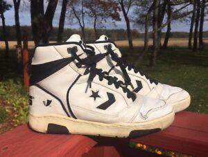 a39d93925f02 Vintage 1980s Converse Cons ERX 150 High Top Basketball Shoes Sz 7.5 ...