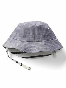 38d499d33fe38 Details about GAP Baby   Toddler Boys Size 18-24 Months Blue Chambray  Reversible Bucket Hat