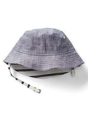 GAP Baby Toddler Boys Size 18-24 Months Blue Chambray Denim Bucket Sun Beach Hat