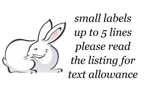 Bunny Rabbit Piccolo O Grande appiccicoso White Paper ADESIVI ETICHETTE NUOVO