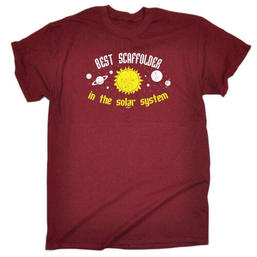 Best Scaffolder In The Solar System Funny Novelty T-Shirt Mens tee TShirt