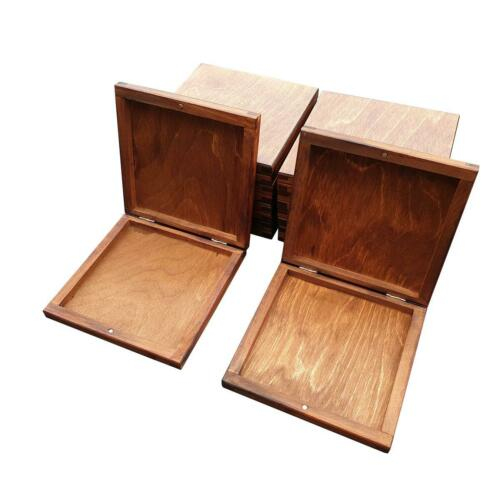 SET OF 10 IN BROWN COLOR CLOSED FOR MAGNET WOODEN CD BOX