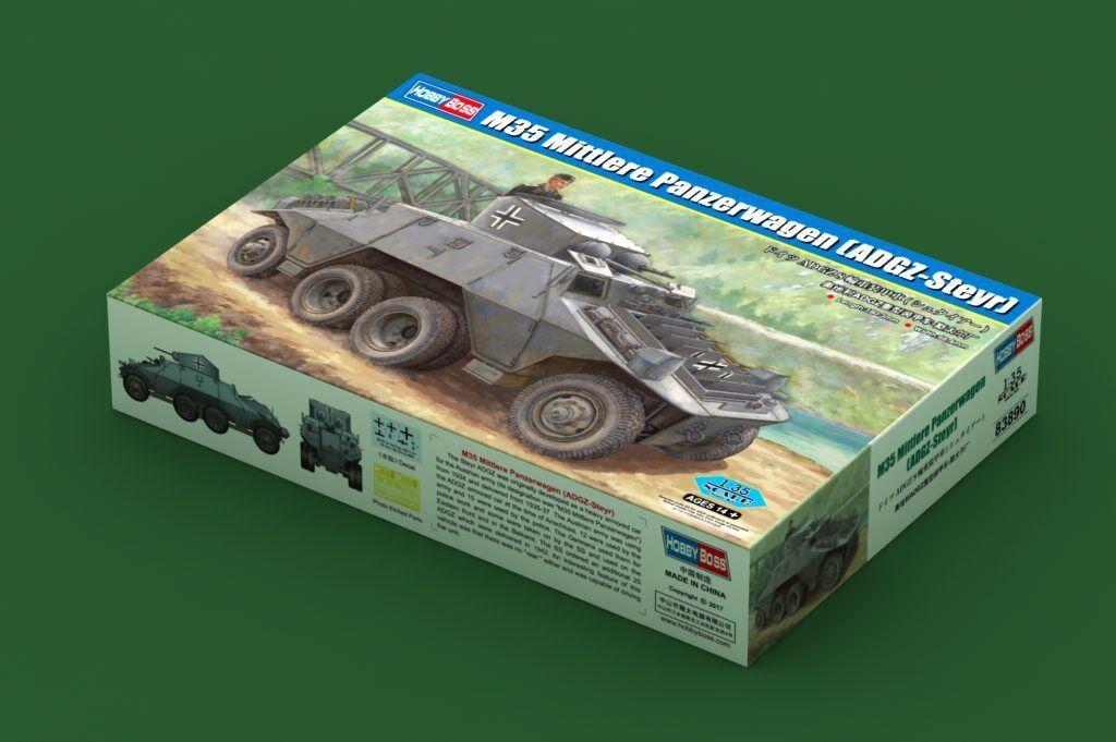 83890 Hobby Boss ADGZ-Steyr Heavy Armored Vehicles Panzer Wagen Kit 1 35 Model