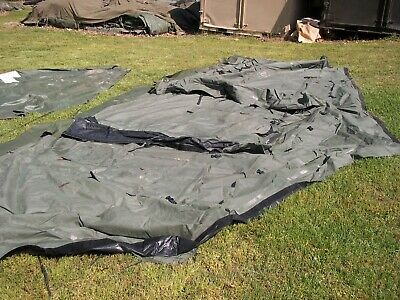 MILITARY SURPLUS TEMPER TENT   END   SECTION HUNTING    NOT COMPLETE TENT    ARMY | eBay