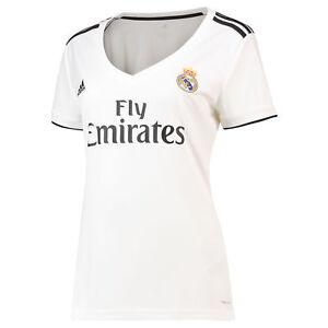 Real-Madrid-Football-Home-Jersey-Shirt-Tee-Top-2018-19-Femme-Adidas