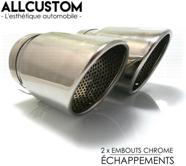 Embouts Chrome Sortie Pot Echappements Tube Tuyaux Silencieux Pour Audi Q7 06-14