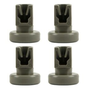 ZANUSSI Compatible DISHWASHER Upper Top BASKET WHEELS /& Clips X 4
