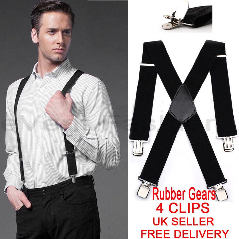 5cm Men/'s XXL Extra Wide Heavy Duty X-Shape Braces//Suspenders