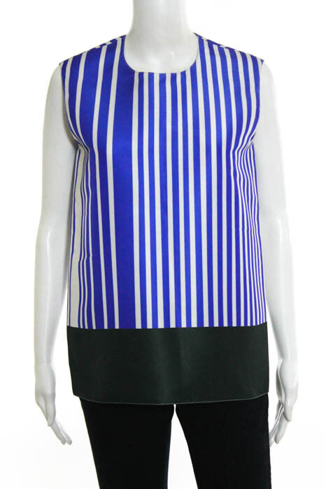 Maison Rabih Kayrouz Multi-color Striped Blouse Size 36  750 New 114136