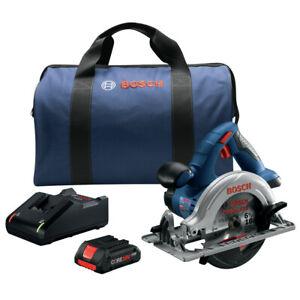 Bosch 18V 6-1/2 in. Circular Saw Kit (4 Ah) CCS180-B15-RT Certified Refurbished