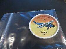 1961 JELL-O HOSTESS AIRPLANE SERIES COIN 1928 FOKKER HIGH GRADE #14