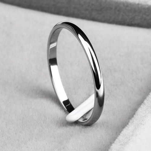 2mm dünnes stapelbares Ring-Edelstahl-Normalband für Mädchen Size 4-10 cq