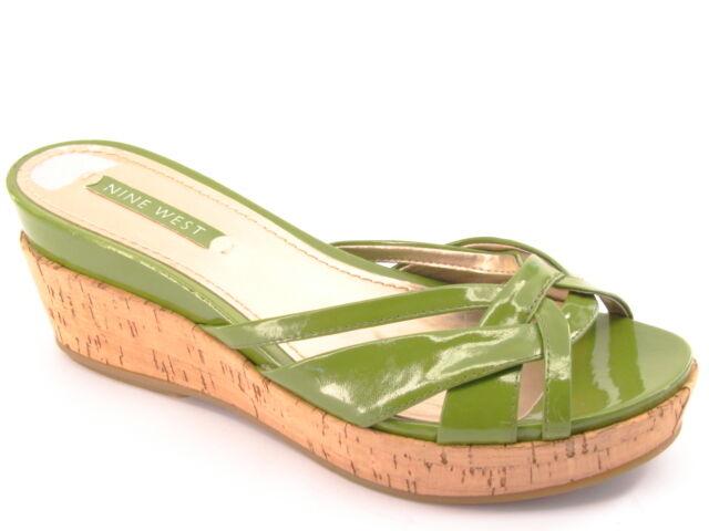 Nuevos Nine West mujer Cuero Plataforma De Corcho Corcho Corcho diapositiva de Taco Plano Flip Flop Zapato Talla 7 M  disfrutando de sus compras