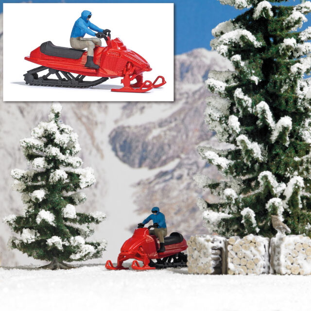 Busch Ready Made Scene Snowmobile 7818  HO Scale (suit OO also)
