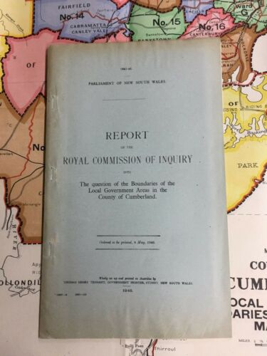 1946 PARLIAMENTARY REPORT WITH 3 SYDNEY MAPS G72