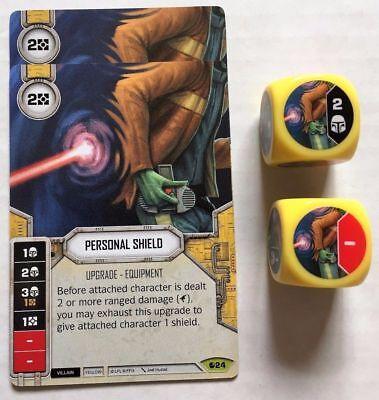 Star Wars Destiny Spirit of Rebellion Personal Shield #24 Rare w// Premium Die