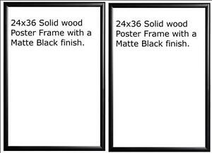 image is loading two 2 24x36 wood matte black finish poster