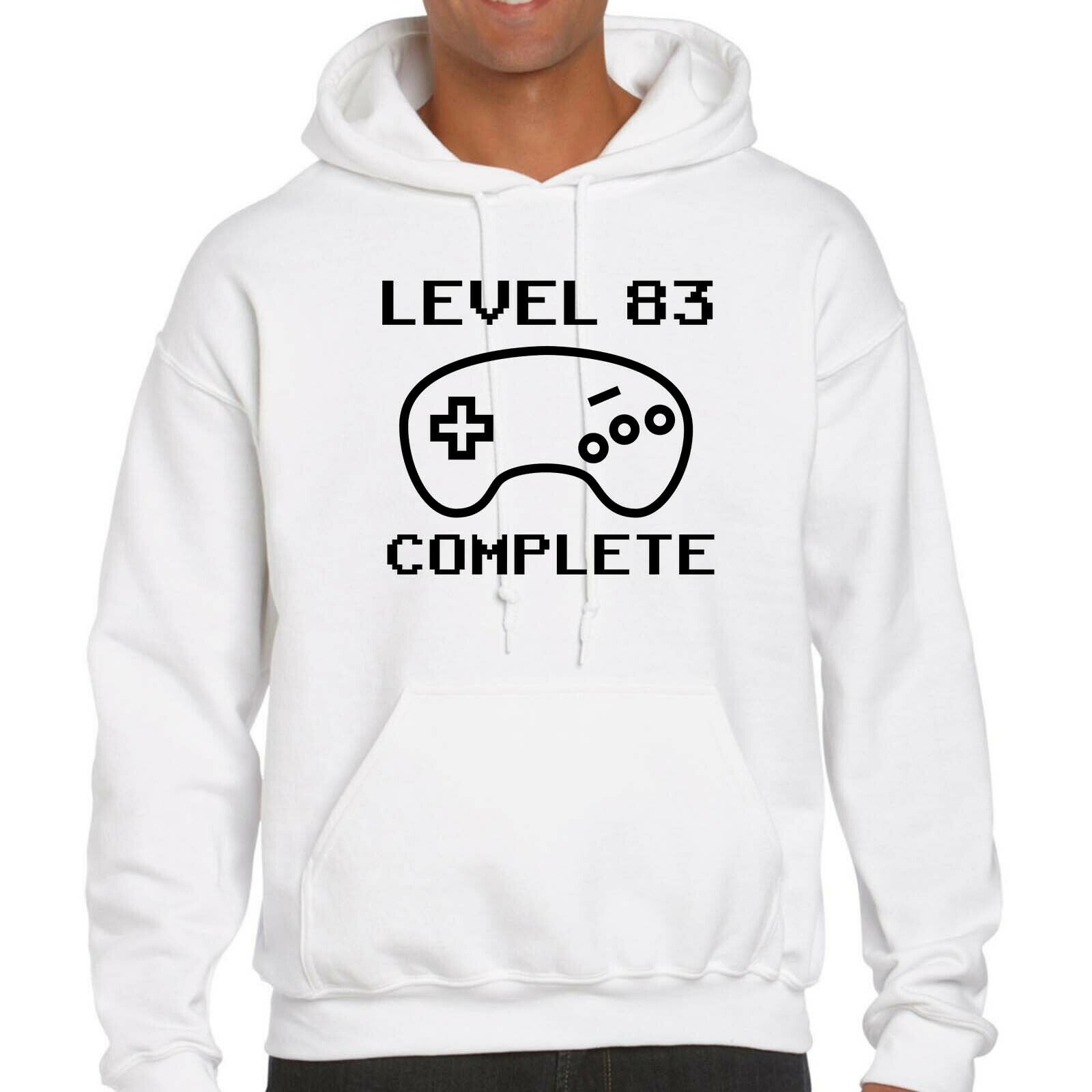 Level 83 Complete Hoodie - 83rd Birthday, Gift, Gaming, Retro