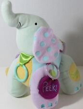 MANHATTAN Toy ACTIVITY ELEPHANT Stuffed Plush Animal SQUEAK PEEK CHEEP Rings