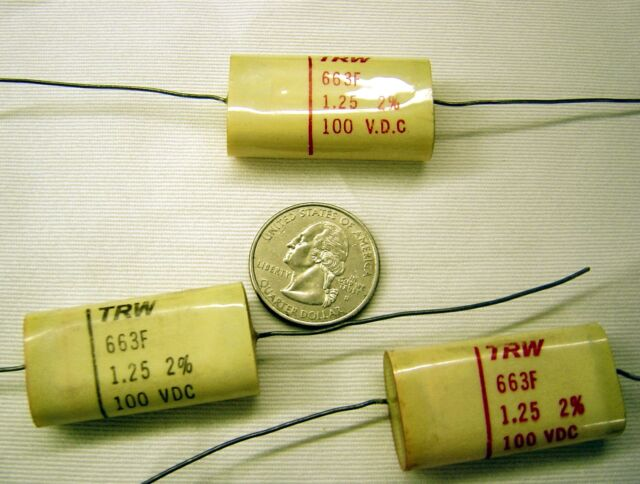 MIDWEC Precision Poly Film Capacitor Axial Type 4 Lot of 5 .068uf 100v 2/%