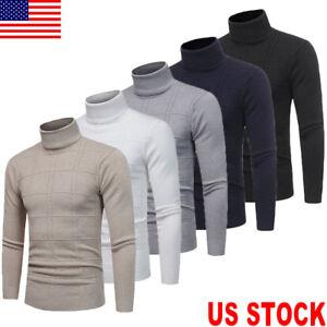 US-Mens-Thermal-Underwear-Long-Sleeve-Turtle-Neck-Top-Ski-Warm-Winter-T-Shirt